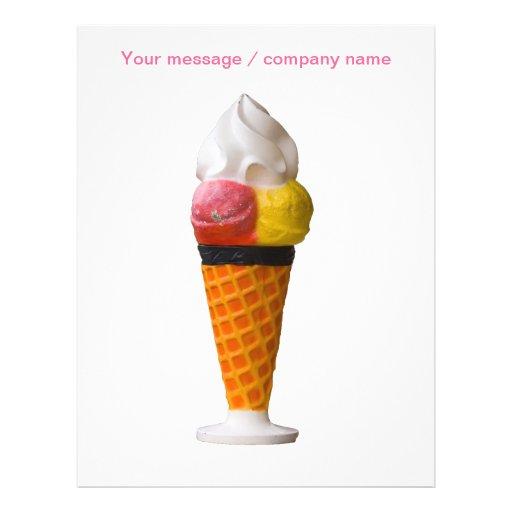 aviador del helado para hacer publicidad tarjeta publicitaria