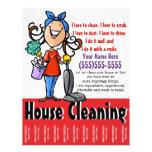 Aviador del márketing de la limpieza de la casa tarjetas publicitarias
