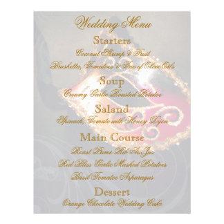 Aviador del menú del boda de la bola de mascarada  tarjetones