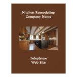 Aviador del negocio de la cocina Remodeler1 Tarjetas Informativas