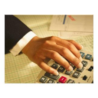 Aviador del negocio de la empresa de contabilidad tarjeton