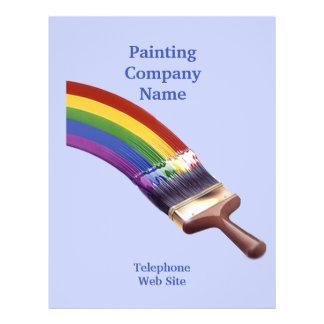 Aviador del negocio del contratista de la pintura tarjetas publicitarias