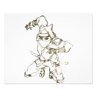 aviador del ninja tarjetón