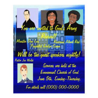 """Aviador del renacimiento de la iglesia folleto 4.5"""" x 5.6"""""""