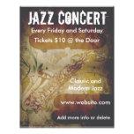 Aviador del saxofón del concierto del jazz tarjetones