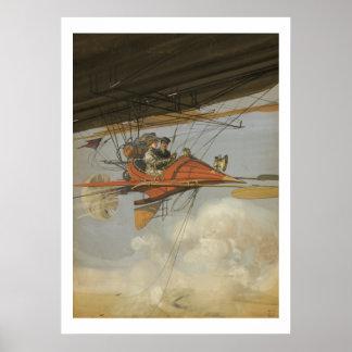 Aviador del vapor póster