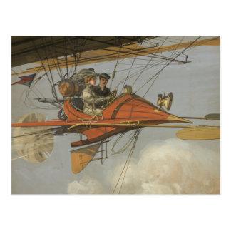 Aviador del vapor tarjeta postal