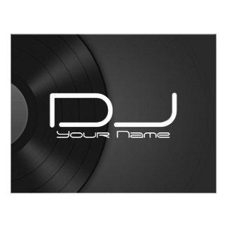 """Aviador del vinilo de DJ Folleto 8.5"""" X 11"""""""