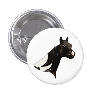 Aviador el botón común del caballo pin redondo de 1 pulgada