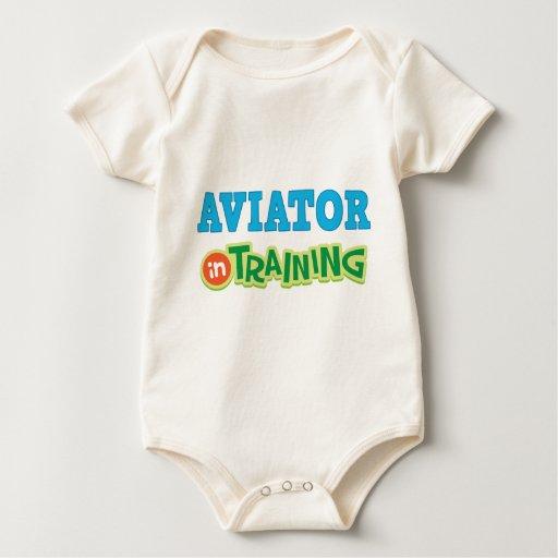 Aviador en el entrenamiento (futuro) traje de bebé
