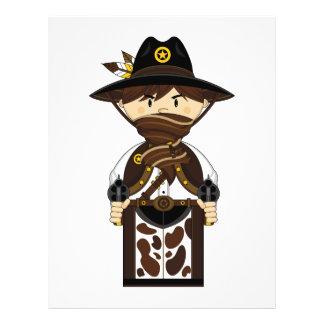 Aviador enmascarado del sheriff del vaquero flyer personalizado