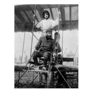 Aviador Enrique Farman y esposa, 1900s tempranos Postal