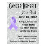 Aviador floral de general Cancer Awareness Benefit Flyer A Todo Color