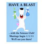 Aviador fresco del club de la ciencia tarjetas informativas