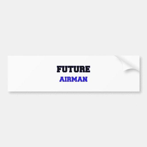Aviador futuro etiqueta de parachoque