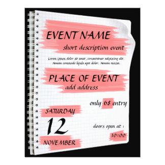 Aviador genérico del acontecimiento tarjetas informativas