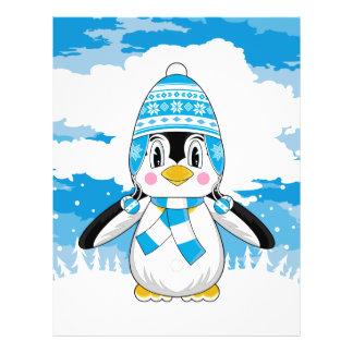 Aviador lanoso del pingüino del gorra tarjeton