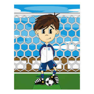 Aviador lindo del muchacho del fútbol de Inglaterr Tarjeton