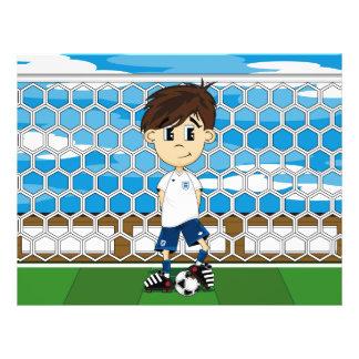Aviador lindo del muchacho del fútbol de Inglaterr Tarjeta Publicitaria