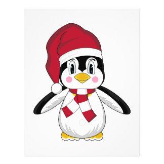 Aviador lindo del pingüino del navidad tarjetas publicitarias
