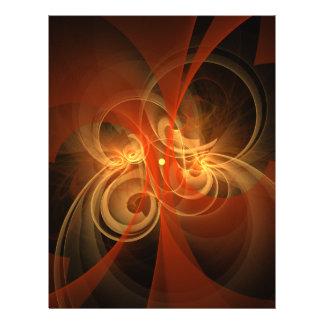 """Aviador mágico del arte abstracto de la mañana folleto 8.5"""" x 11"""""""