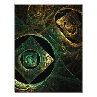 """Aviador mágico del arte abstracto de las vibracion folleto 8.5"""" x 11"""""""
