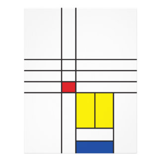 Aviador minimalista de Stijl del arte moderno de M Tarjetón