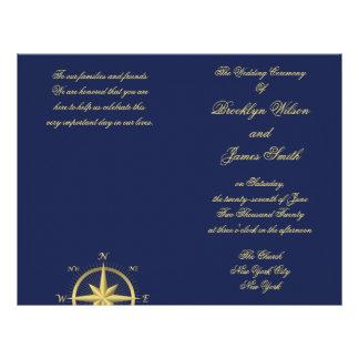 Aviador náutico azul del programa de la ceremonia