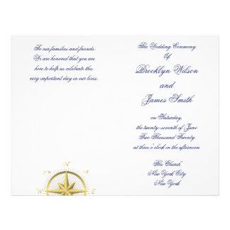 Aviador náutico blanco del programa de la ceremoni