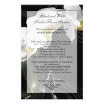 """Aviador negro de la orquídea, casando programa, el folleto 5.5"""" x 8.5"""""""