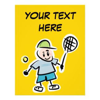 """Aviador personalizado del tenis para los torneos folleto 8.5"""" x 11"""""""