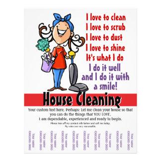 Aviador promocional del limpiador de la casa tarjetas informativas