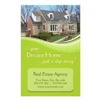 """Aviador real de la agencia inmobiliaria folleto 5.5"""" x 8.5"""""""