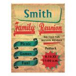 Aviador retro de la reunión de familia del vintage tarjeta publicitaria