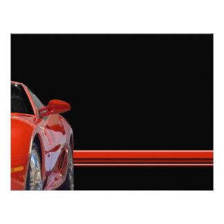 Aviador rojo del coche de deportes flyer a todo color