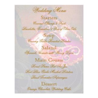 Aviador rojo del menú del boda de la bola de masca flyer personalizado
