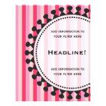 Aviador rosado de los toldos brillantes tarjetas publicitarias
