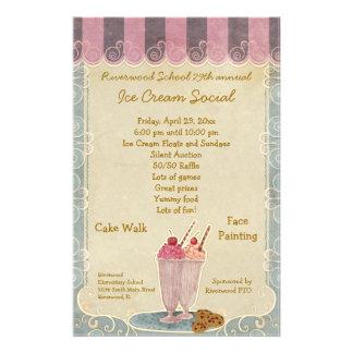 Aviador social de la invitación del helado tarjeta publicitaria