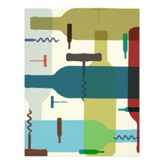 """Aviador temático de la botella de vino folleto 8.5"""" x 11"""""""