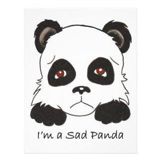 Aviador triste del personalizado de la panda tarjetón