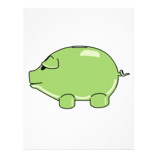 Aviador verde del cerdo flyer personalizado