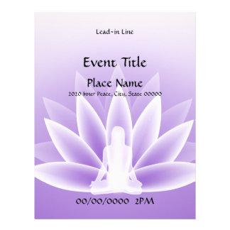 Aviador violeta del acontecimiento 11x8.5 de Lotus Tarjetones