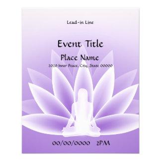 Aviador violeta del acontecimiento de Lotus de la Tarjetón