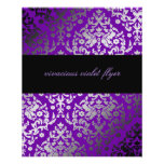 aviador violeta vivaz del damasco 311-Dazzling Tarjetón