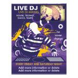 Aviador vivo de DJ de la púrpura Tarjeton
