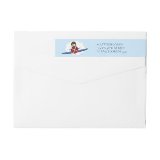 Aviador y su avión etiquetas postales