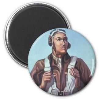 Aviadores afroamericanos de WPA Tuskegee de WW2 Imán Redondo 5 Cm