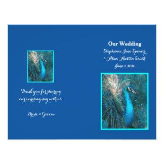 """Aviadores azules brillantes del programa del boda folleto 8.5"""" x 11"""""""