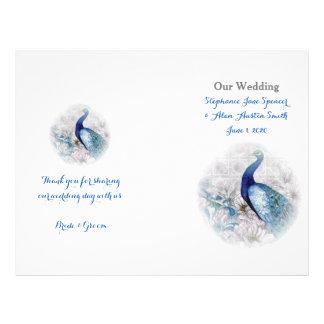 "Aviadores azules del programa del boda del estilo folleto 8.5"" x 11"""