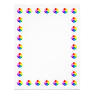 Aviadores coloridos 1 del espectro del arco iris membrete a diseño